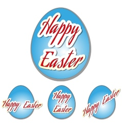 Easter set eggs vector