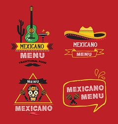 Menu mexican design vector