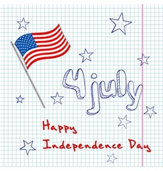 4th of july greating card vector image vector image