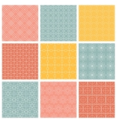 Geometric patterns set of seamless vector