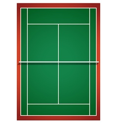 Aerial view of badminton court vector