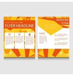 Geometric flyer template vector