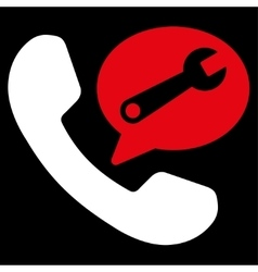 Phone service message icon vector