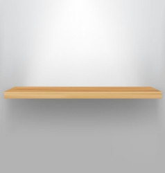 Empty wood shelf vector