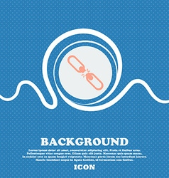 Broken connection flat single icon blue and white vector