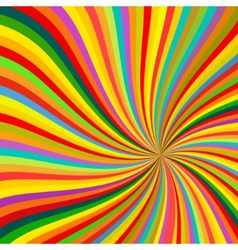 Abstract colorful lines rotation background vector