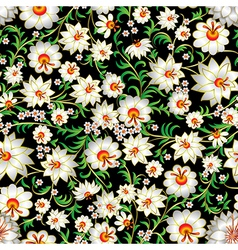abstract white spring seamless floral ornament and vector image vector image