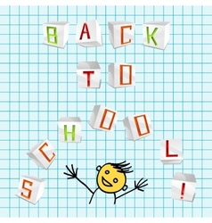 Back to school - vector image vector image
