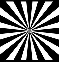 black and white sunburst pattern vector image vector image
