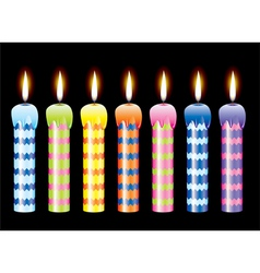 burning candles vector image vector image