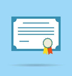 certificate diploma icon vector image vector image