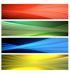 colorful abstract banner set vector image