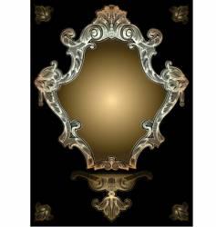 decorative gold royal ornate banner vector image vector image