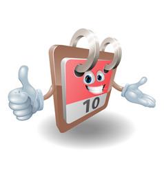 Desk calendar mascot vector