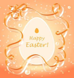 Easter greetings background vector image vector image