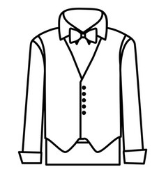 Figure sticker suit with shirt waistcoat and vector
