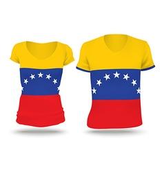Flag shirt design of Venezuela vector image vector image