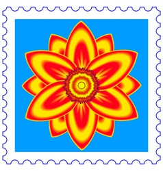Flower stamp vector image vector image