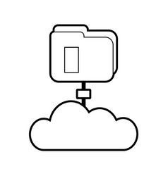 Folder document with cloud vector