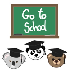 Go to school message vector image vector image