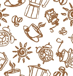 good morning pattern vector image