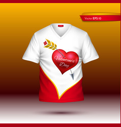 Happy valentine day t shirt realistic vector