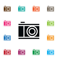 Isolated photograph icon snapshot element vector