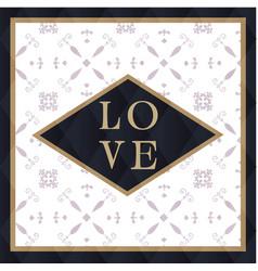 Love square retro background image vector