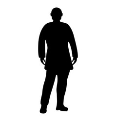 Man silhouette on white background vector