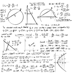 Maths background vector