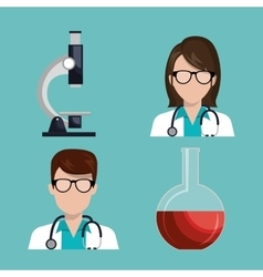 Medical care design vector