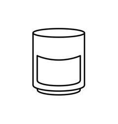 medicine bottle icon vector image vector image