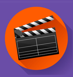 Movie clapper board movie maker vector