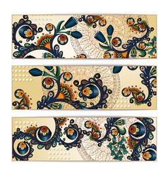 Paisley batik background ethnic tribal cards vector