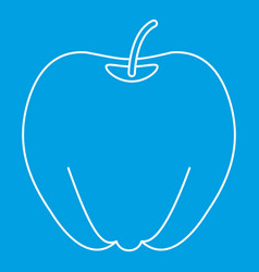 Ripe apple icon outline style vector