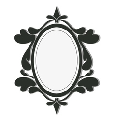 round vintage frame icon vector image vector image