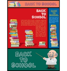 School Banner Set Part 3 vector image vector image
