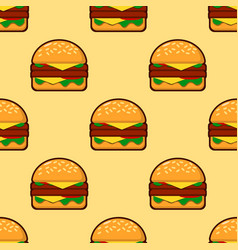 seamless pattern of burgers background for fast vector image