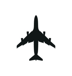 simple black Plane icon on white background vector image vector image