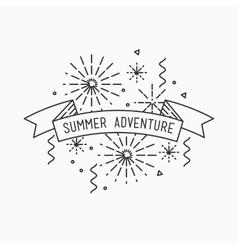 Summer adventure inspirational vector