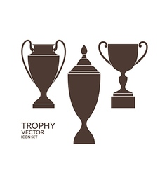 Trophy Cup Icon set vector image