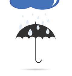 Umbrella with rain color vector