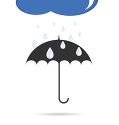 umbrella with rain color vector image