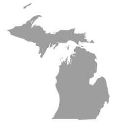Us state of michigan vector