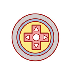 videogame symbol to play and videogame technology vector image vector image