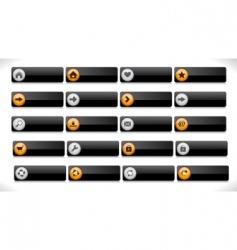 Website interface buttons vector
