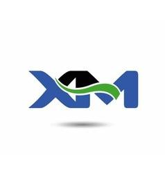 XM logo vector image vector image