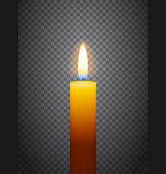 realistic burning candle vector image