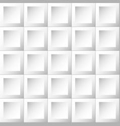 Abstract background white and gray tiles vector