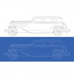 Old cars blueprints vector